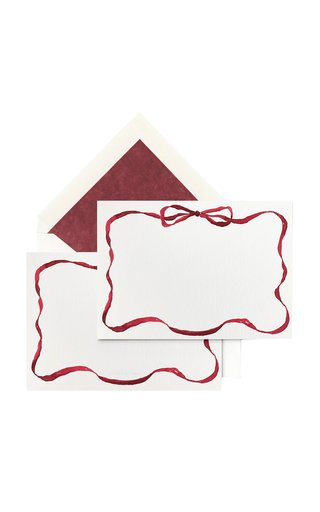Set-Of-Ten Ribbon-Painted Stationary Cards