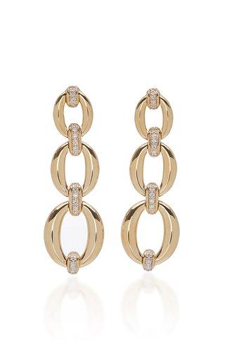 Catena 18K Yellow Gold Triple Link Earrings