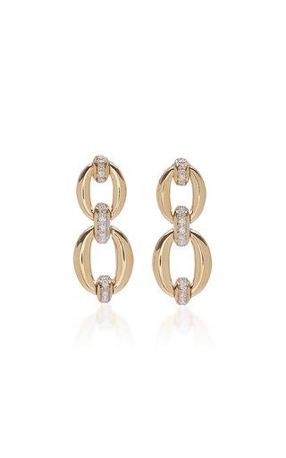Catena 18K Yellow Gold Double Link Earrings