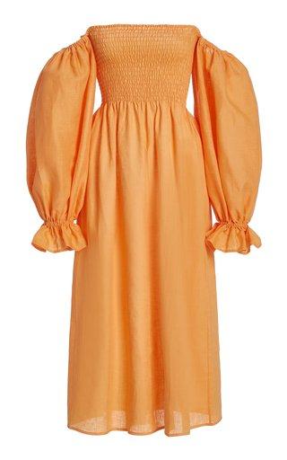 Atlanta Balloon Sleeve Linen Dress