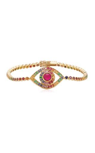 Eye 18K Yellow Gold Multi-Stone Bracelet