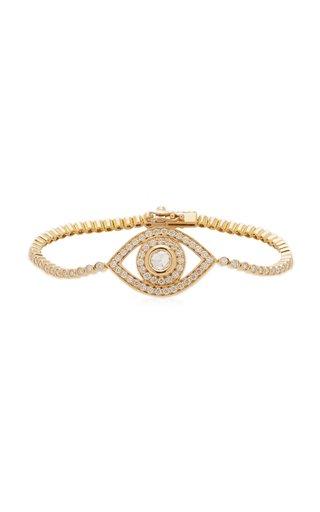 Eye 18K Yellow Gold Diamond Bracelet