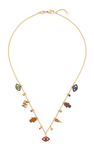 Lucky Charms 18K Yellow Gold Multi-Stone Necklace