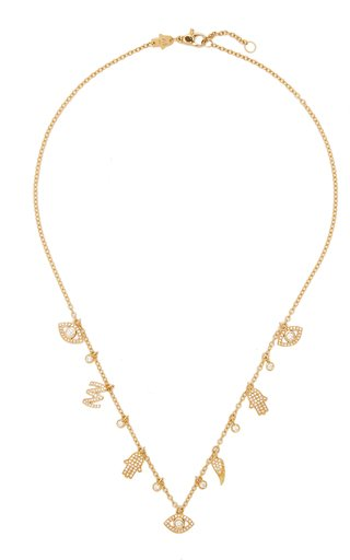 Lucky Charms 18K Yellow Gold Diamond Necklace