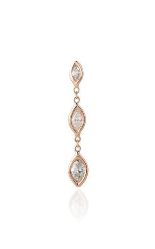 14K Rose Gold, Diamond Earring