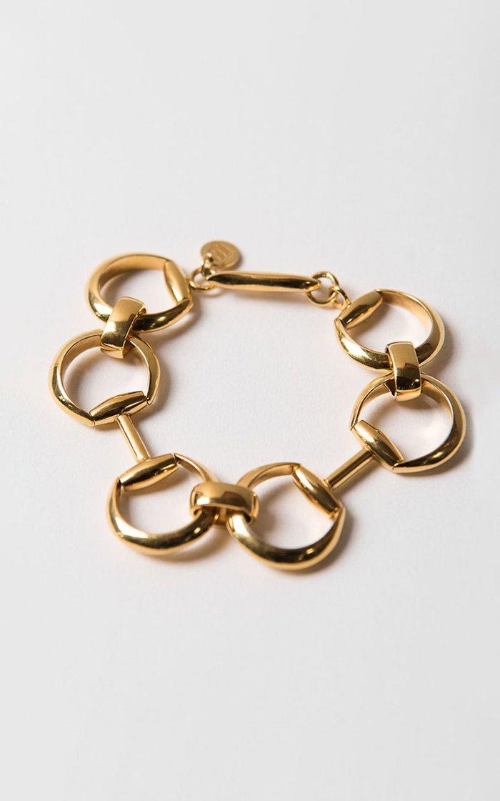 14K Gold-Plated Horsebite Bracelet