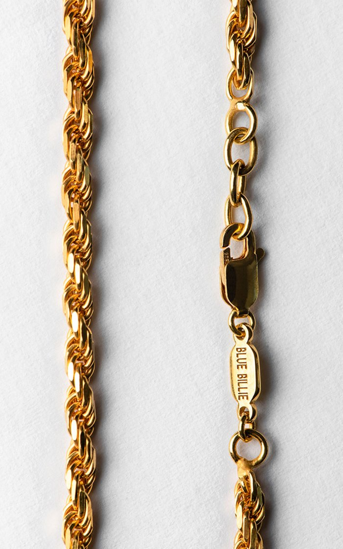 14K Gold-Plated Thick Rope Bracelet