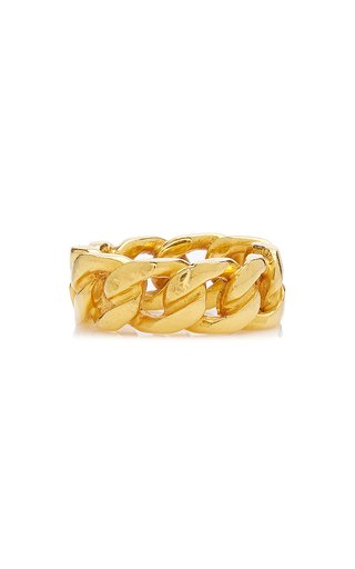 14K Gold-Plated Chain Ring