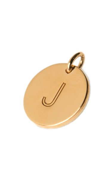 14K Gold-Plated Letter Charm
