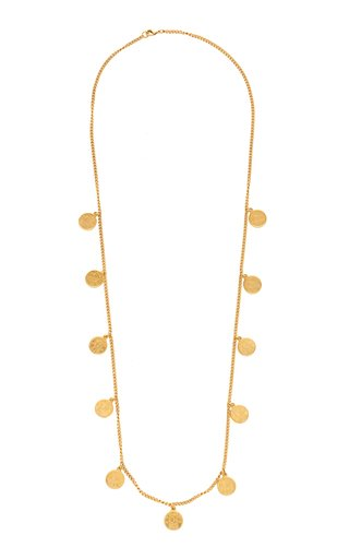 Long Gold-Plated Coin Necklace