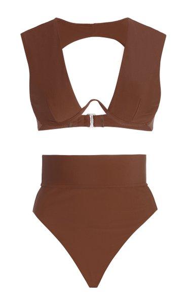 Kuwa Cutout High-Rise Bikini