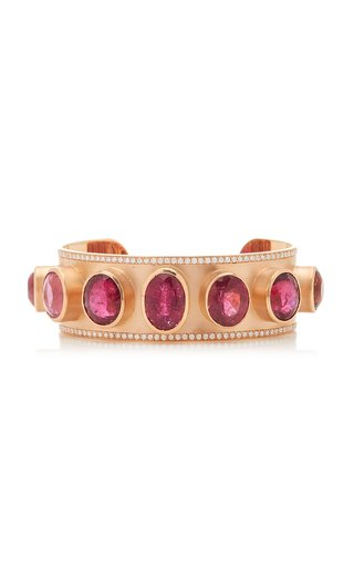 One Of A Kind Gemmy Gem Bracelet With Pink Tourmaline & Diamond Pave
