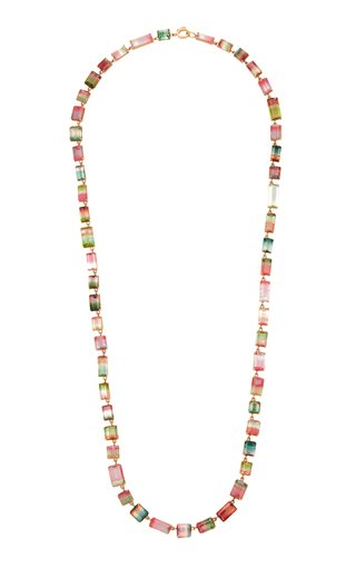 One Of A Kind Gemmy Gem Necklace With Watermelon Tourmaline & Bi Color Tourmaline