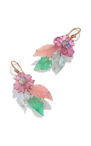 One Of A Kind Tropical Flower Earrings