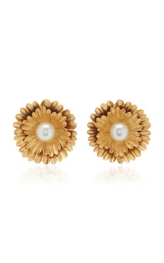Super Bloom Earrings With South Sea Pearls