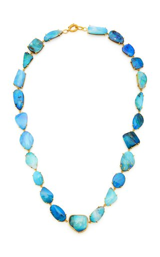 One Of A Kind Necklace With Boulder Opals & Diamond Pave