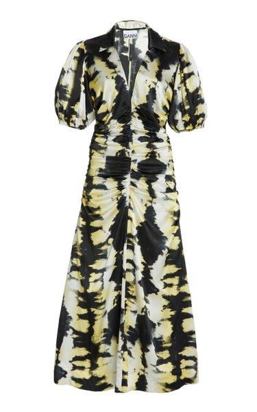 Printed Silk-Satin Maxi Dress