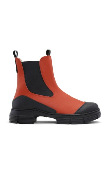 Recycled Rubber Ankle Boots