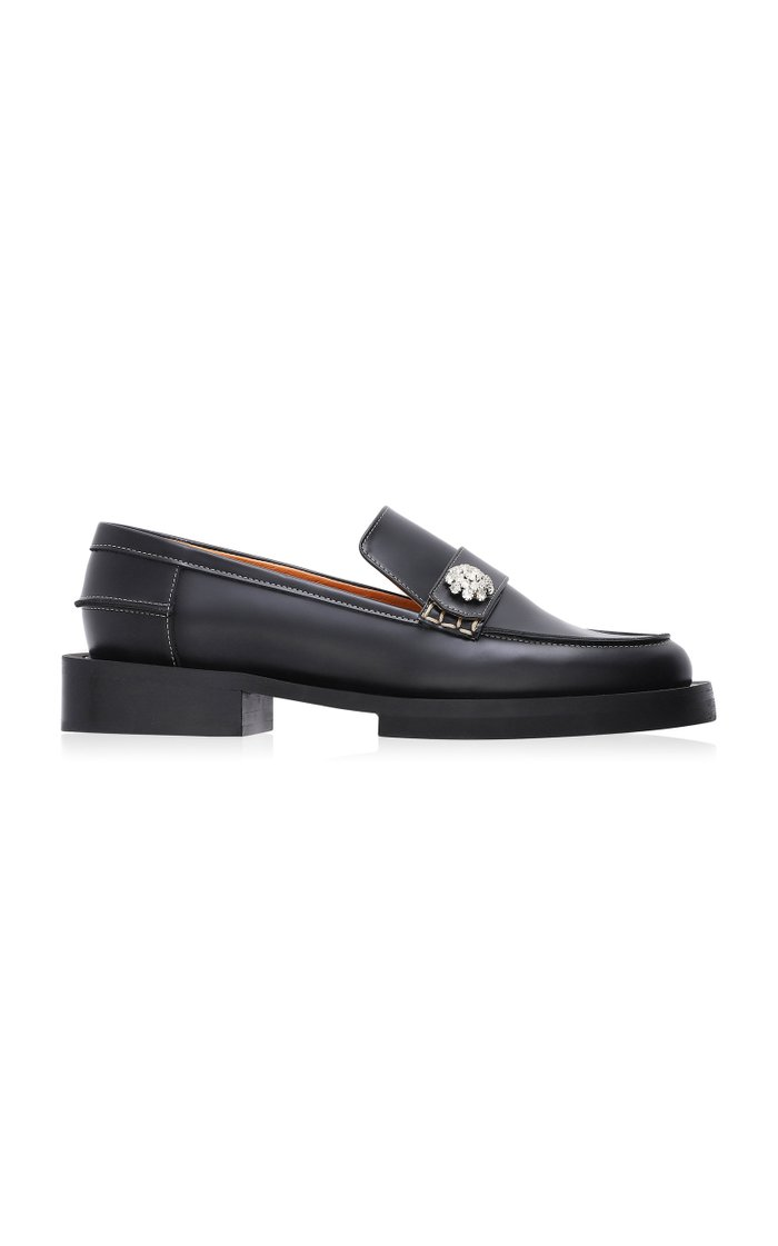 Jewel Leather Loafers