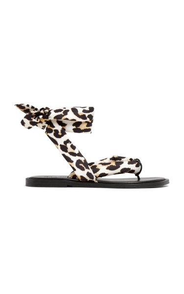 Recycled Tech Leopard Sandals
