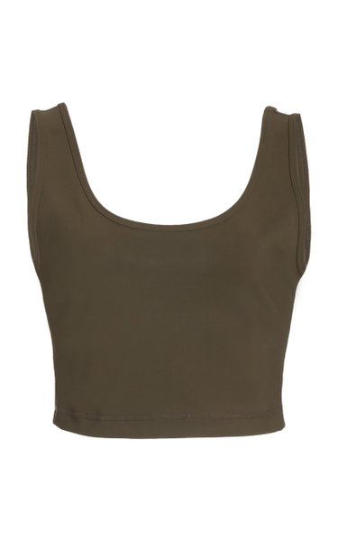 Stretch Jersey Cropped Top
