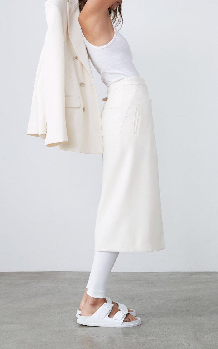 Wool Midi Wrap Skirt