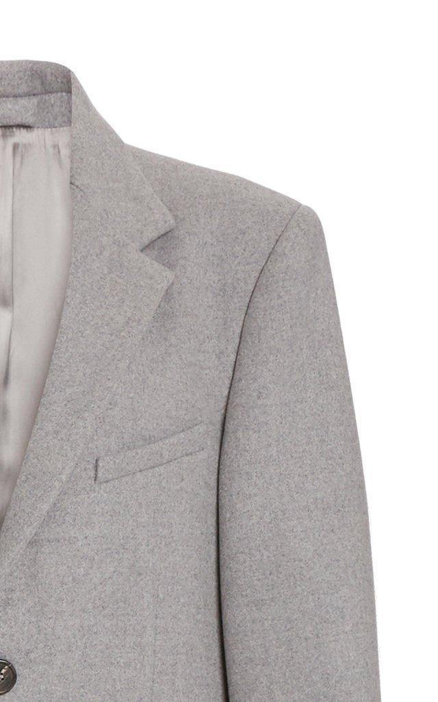 Single-Breasted Wool Coat