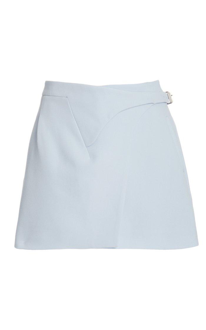Wool Mini Wrap Skirt