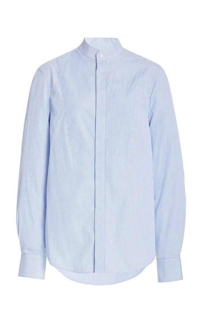 Striped Cotton Tuxedo Shirt
