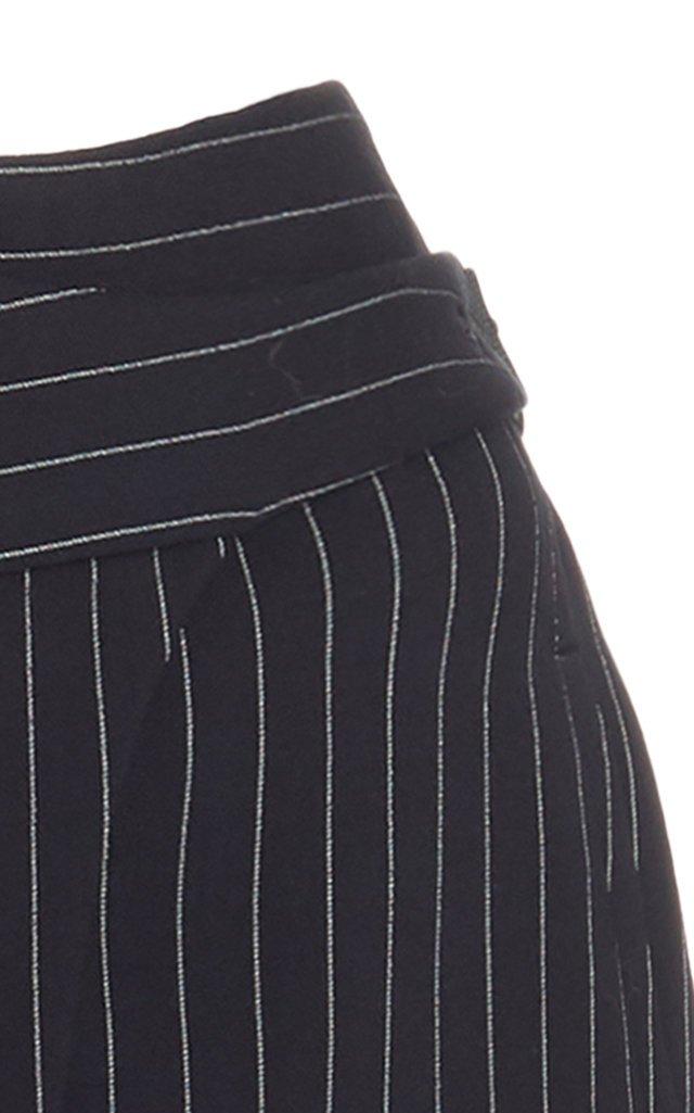 Pinstriped Mini Wrap Skirt