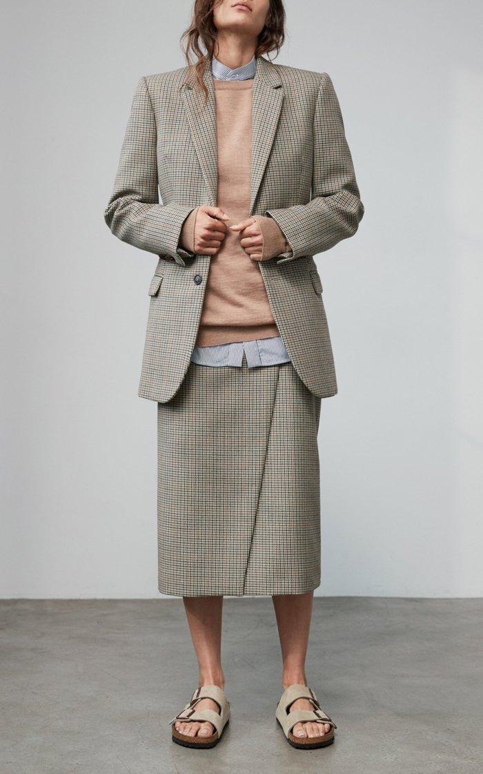 Contour Houndstooth Wool Blazer