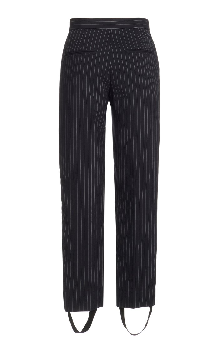Pin-Striped Wool Trousers
