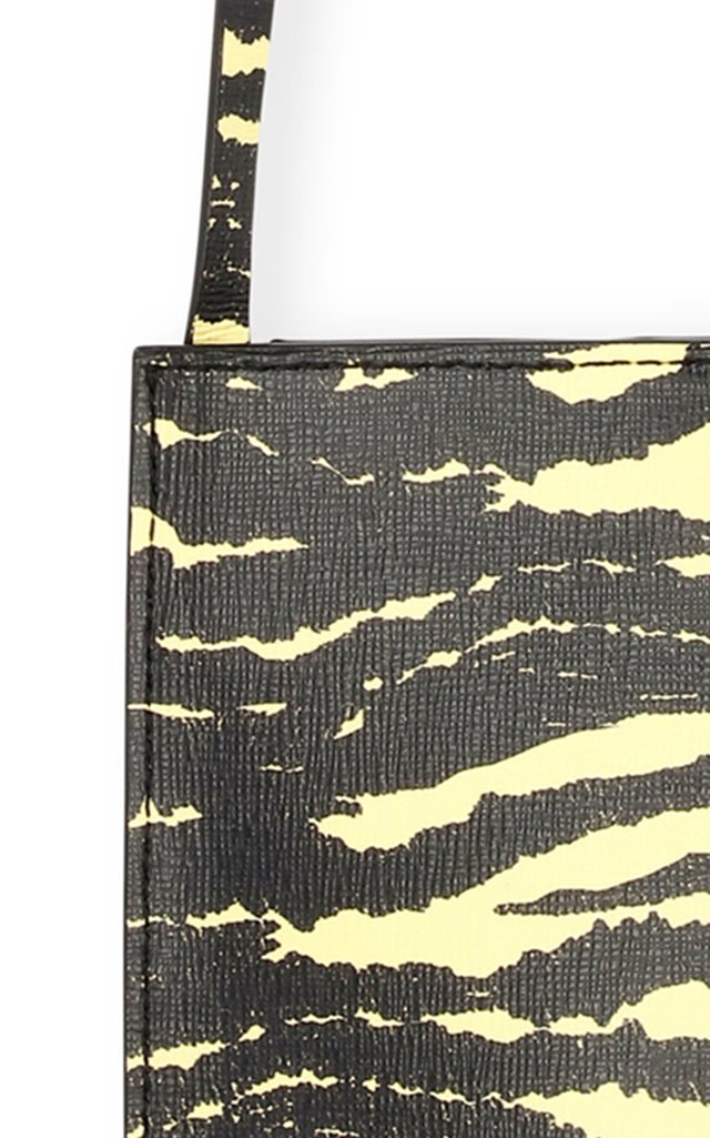 Striped Recycled Leather Crossbody Bag