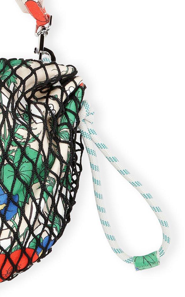 Printed Fishnet Shoulder Bag