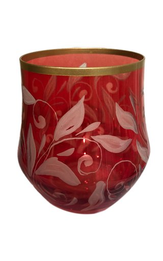 Etched Red Crystal Tumbler