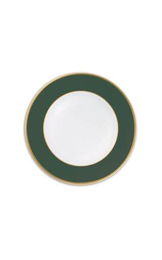 Forest Green Matt & 24K Gold Large Dinner Plate