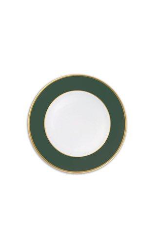 Forest Green Matt & 24K Gold  Starter/Salad Plate