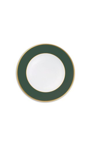 Forest Green Matt & 24K Gold Dessert Plate