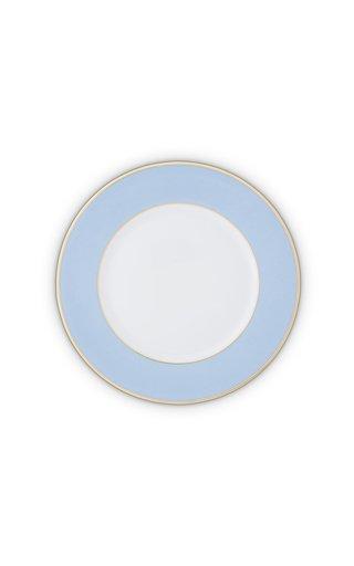 Light Blue & 24K Gold Large Dinner Plate