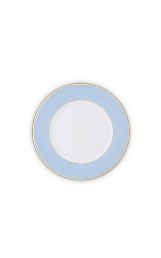 Light Blue & 24K Gold  Dessert Plate