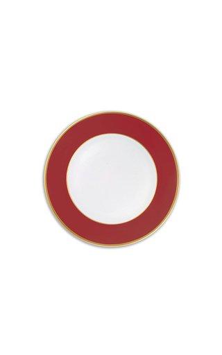Red & 24K Gold  Starter/Salad Plate