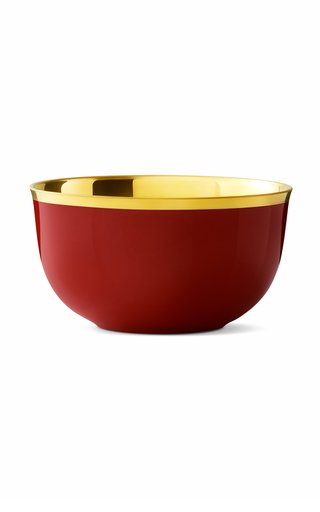 Champagne Bowl Red & 24K Gold