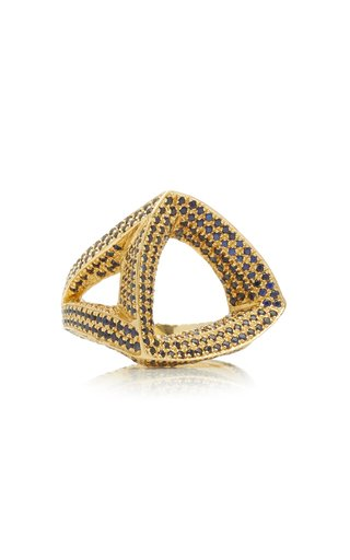 Trilogy 18K Yellow Gold Sapphire Ring