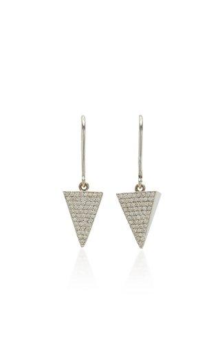 Pyramid 18K White Gold Diamond Earrings