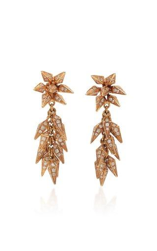 Trickling Diamond Icicle 18K Rose Gold Earrings