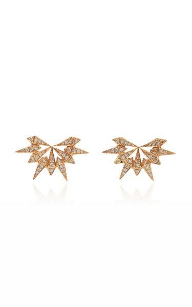 Starburst 18K Rose Gold Diamond Earrings