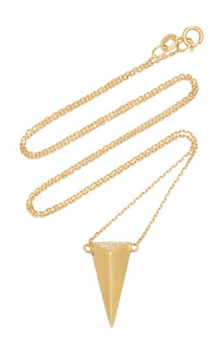 Large Isosceles 18K Yellow Gold Diamond Necklace