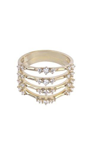 18K Gold Luna 4 Ring