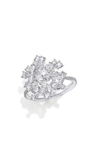 18K Gold Diamond Rain Ring
