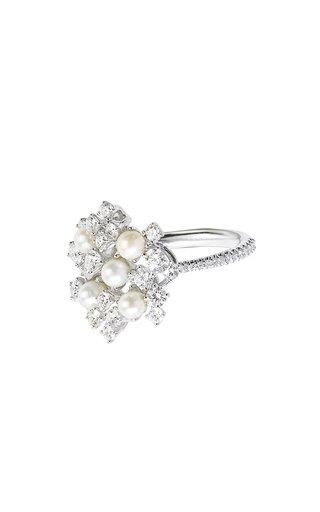 18K Gold Pearl Rain Ring